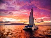 Sunset Lanai Background