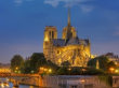 ノートルダム大聖堂、夜
