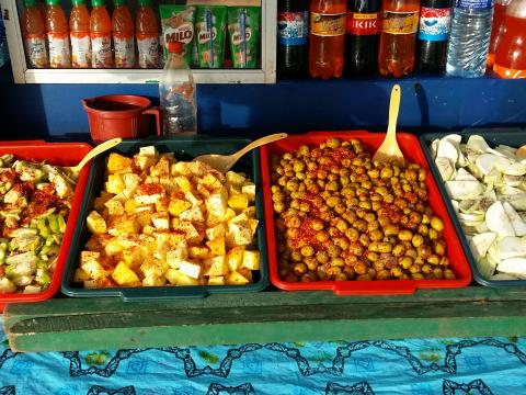 Achcharu Stall on Street