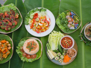 12.Museflower Retreat & Spa Chiang Rai.vegetarian cuisine buffet