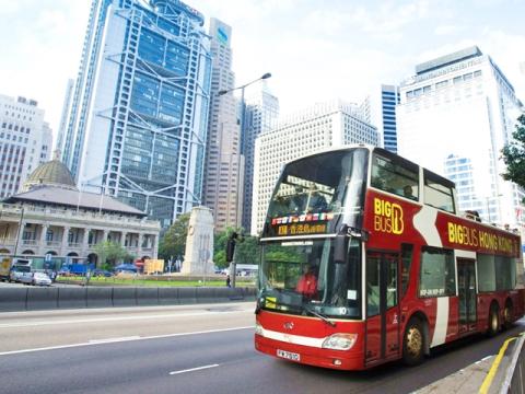 香港名物オープントップバス