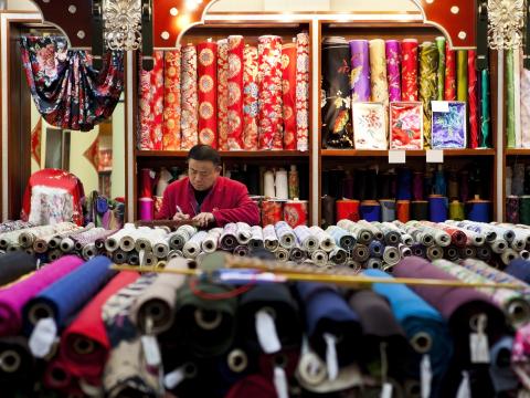 Youngle Fabric Market in Taipei