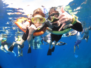 YOUNG COUPLE SNORKEL
