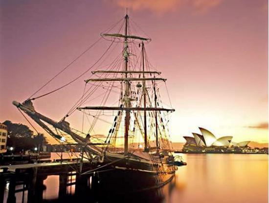 Valentine\'s Day Twilight Tall Ship Dinner Cruise on Sydney Harbour ...