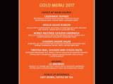 Hard Rock Cafe Barcelona Gold Menu VT