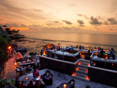 Catch the sunset at the Rock Bar!