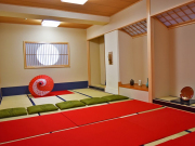 seating cushions on tatami flooring