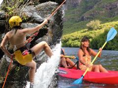 rappel+kayak combo