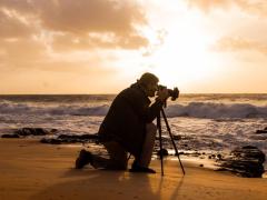 Shooting the sunrise