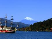 View of Mt. Fuji from Lake Ashi
