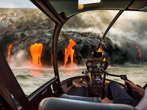 直升機遊覽┃活火山之旅