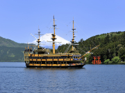 Hakone pirate ship cruise on Lake Ashi