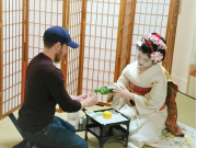 Drinking with maiko in Kyoto