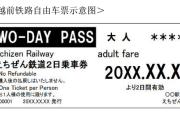 越前铁路自由车票示意图