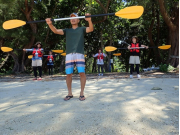 Learning the basics of paddling at Ishigaki