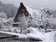 Shirakawa Ogimachi District in winter