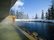Niseko hot spring pool by the snow