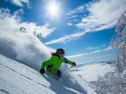 skiing on the slopes of Niseko
