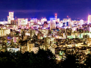 a view of Sapporo City at night