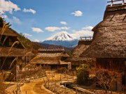 the thatched roof houses of Iyashi no Sato Nenba