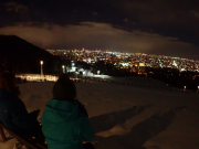 beautiful twinkling lights of Sapporo city