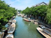 Japan_Fukuoka_Yanagawa River_Traditional poled boat_shutterstock_450489001