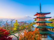 Japan_Yamanashi_chureito pagoda_autumn_fall_shutterstock_1270105807