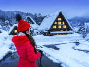 Japan_Gifu_Shirakawago_Winter_Woman_shutterstock_1027455106
