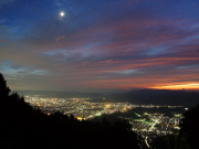 Night view from mountaintop