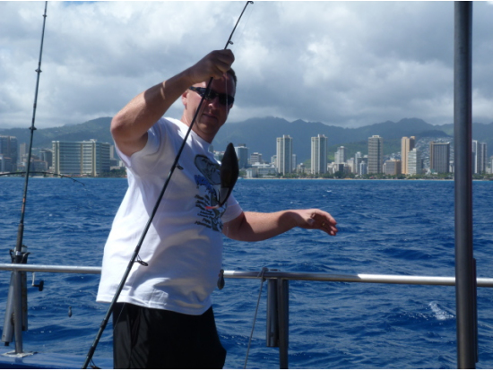 Waikiki bottom fishing economy cruise from kewalo basin for Bottom fishing oahu