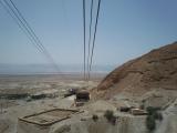 ロープウェイでマサダの山頂へ