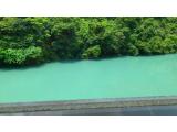 風呂からの景色 川辺