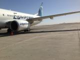 エジプト航空のルクソール→ロンドン線に乗りました