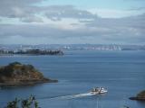 島からのオークランド市街地眺望