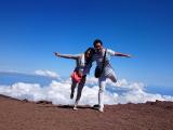 雲の上〜♪( ´▽`)