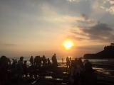 タナロット寺院からの夕日