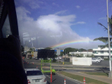 Caught a glimpse of a rainbow, while heading to the airport.