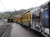 グリンデルワルトからクライネシャイデックに向かう電車