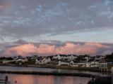 ボウモアの海岸の夕日
