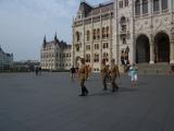 国会議事堂での兵隊さんの交代式。
