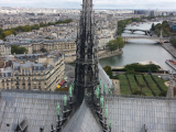 view from tower in Notre Dame