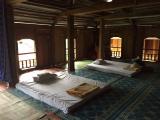 宿泊した部屋。これに一人ずつ蚊帳までかけてくれました!