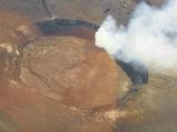 噴火口の真上