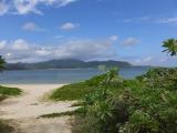 西表島を望むビーチ