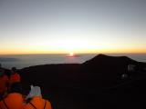 マウナケア山頂のサンセット