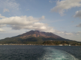 バスのままフェリーに乗って桜島へ。