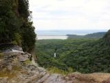 滝上からの風景