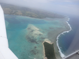 ココス島上空にて