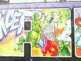 黒人アーティストによる壁画
