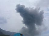 湯之平展望所からの噴煙風景